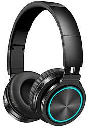 Бездротові Bluetooth-навушники Picun B12 з функцією плеєра і RGB підсвіткою Black