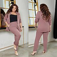 Костюм женский пиджак с брюками 306 (44-46, 48-50, 52-54, 56-58) (цвета: черный, бутылка, индиго, бежевый) СП, фото 1