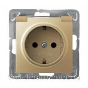 Розетка 250V/16A IP-44 OSPEL IMPRESJA GPH-1YS/m/28 золото