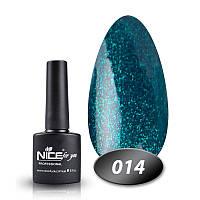 Гель-лак Nice For You Основная палитра №014 голубой с блестками 8,5 г.