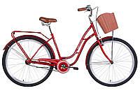 """Велосипед 28"""" Dorozhnik OBSIDIAN 2021 (рубіновий)"""