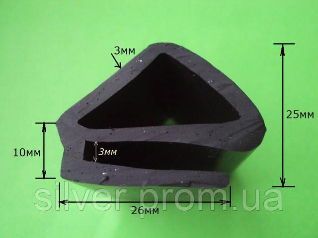 Резиновый уплотнитель е-образный