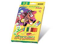 "Цветные карандаши Marco 12 цветов ""Пегашка"", с точилкой JUMBO 1040-12CB"