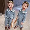 Джинсовий костюм для дівчаток.