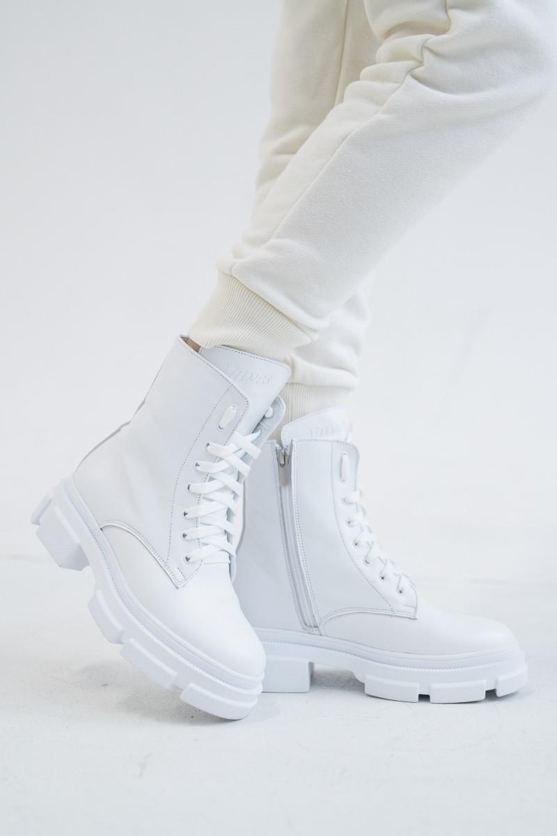 Жіночі черевики шкіряні весна/осінь білі