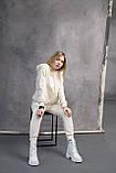 Жіночі черевики шкіряні весна/осінь білі, фото 5