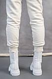 Жіночі черевики шкіряні весна/осінь білі, фото 6