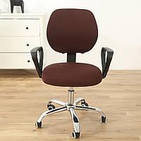 Чохол на стілець зі спинкою 45х60 Замша мікрофібра. Кава