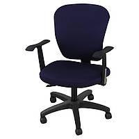 Чохол на стілець зі спинкою 45х60 Замша мікрофібра. Синій