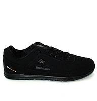 Черные мужские кроссовки  47-50