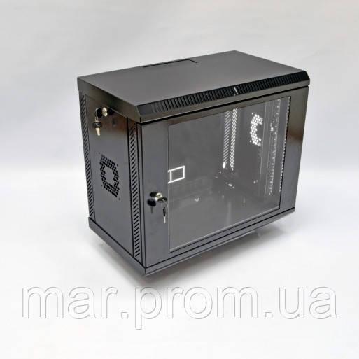 Шкаф 9U, 600х350х507 мм (Ш * Г * В), акриловое стекло, чёрный