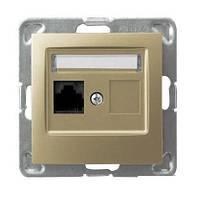 Розетки RJ-45 сетевые OSPEL IMPRESJA GPK-1Y/K/m/28 золото