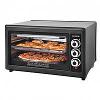 Духовка ASEL AF-0123 40-23 черная для небольшой кухни настольная духовая печь