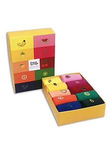 Набор высоких ярких носков с вышитыми фруктами Neseli Box X