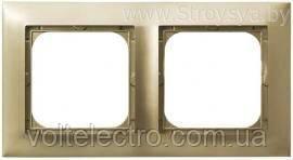 Рамка подвійна OSPEL IMPRESJA R-2Y/28 золото