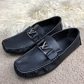 Чоловічі чорні Мокасини Louis Vuitton