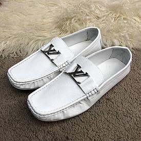 Чоловічі білі Мокасини Louis Vuitton