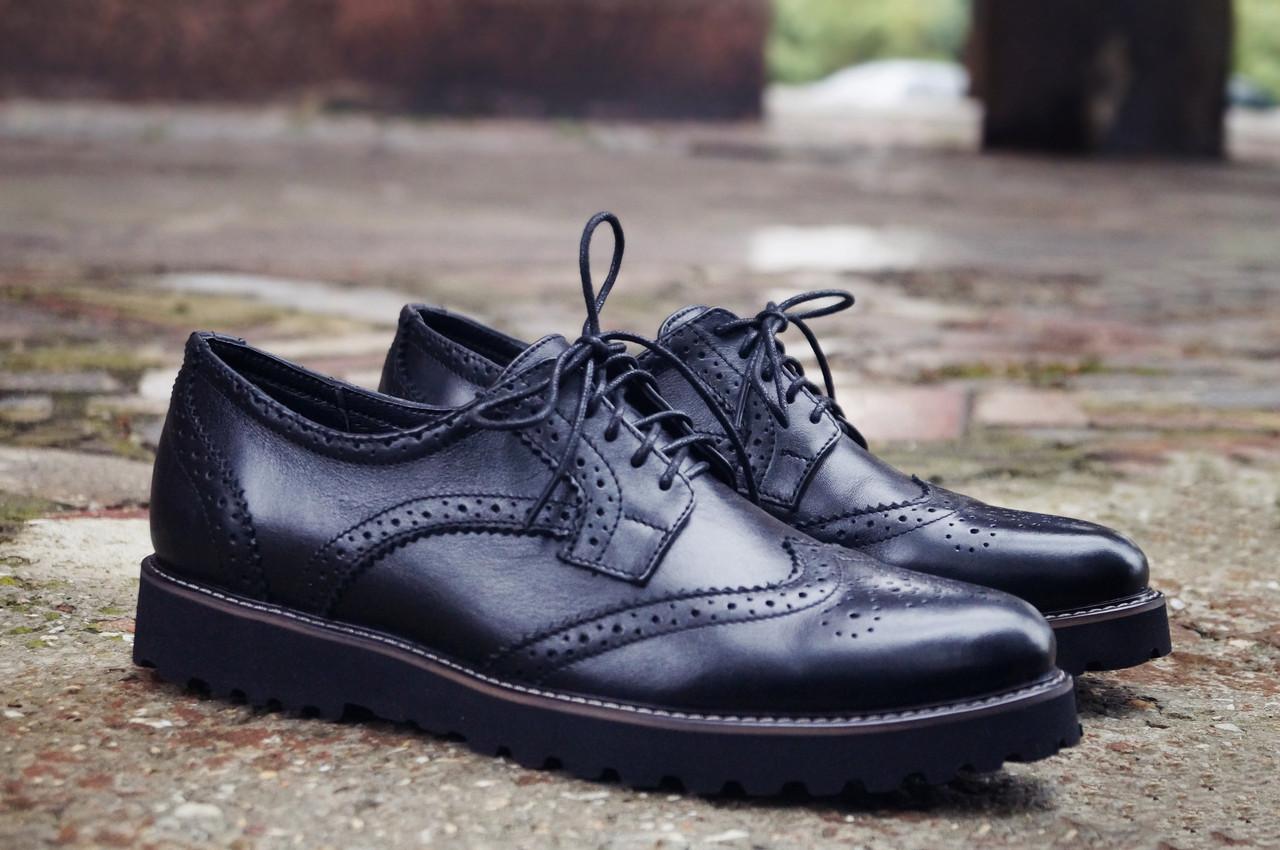 Мужские черные Туфли Броги Onyx
