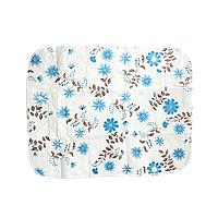 """Многоразовая пелёнка для детей """"Голубые цветы"""" 73*57см"""