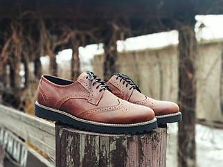 Чоловічі коричневі Туфлі Броги Onyx