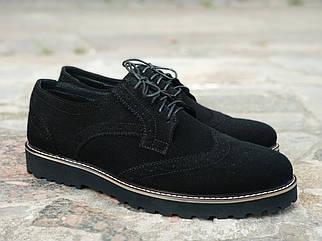 Чоловічі чорні Туфлі Броги Onyx