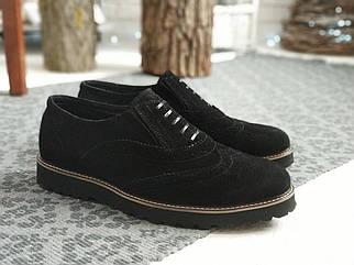 Чоловічі чорні Туфлі Броги Webster