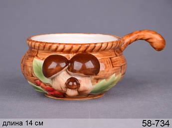 Кокотница Dream Willage (грибы) лукошко 14х6 200мл 58-734