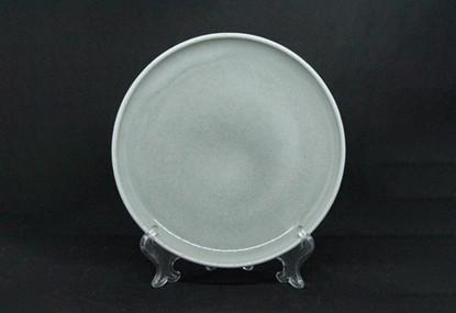 Керамічна тарілка світло сіра OLENS Нефрит 215мм 7953-70