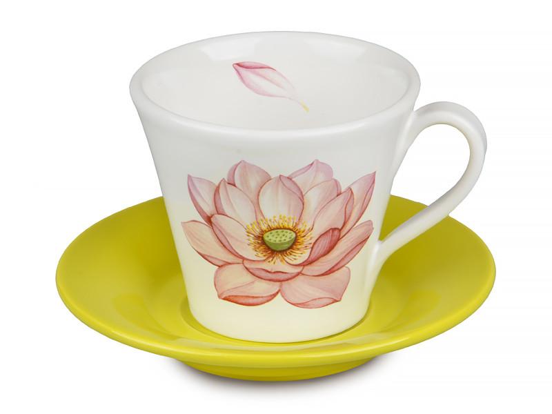 Чайна пара Nuova CER Fior di loto 350мл 2пр 612-010