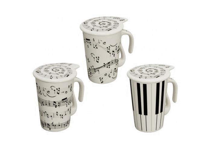 Чашка з кришкою Сольфеджіо 230мл 34367-11