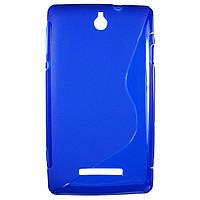 Чехол S-Line для Sony Xperia E c1505 c1605 Blue