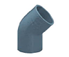 Колено ПВХ 45 градусов, диаметр 75 мм