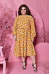 Весняна сукня жіноча вільний у квітковий принт (Батал), фото 2