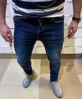 Джинсы мужские синего цвета повседневные мужская одежда джинсы слим