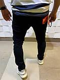 Джинсы мужские черные слим классические молодежные модные весна, фото 2