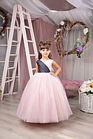 Нарядное пишное платье для девочки пудрового цвета ЛИЗА