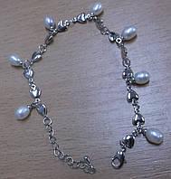 Жемчужный браслет с подвесками-жемчужинами  от Студии LadyStyle.Biz