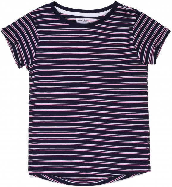 Детская футболка в полоску для девочек 9-18 мес, 74-86 см Minoti, 74-80 см