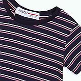 Детская футболка в полоску для девочек 9-18 мес, 74-86 см Minoti, 74-80 см, фото 3
