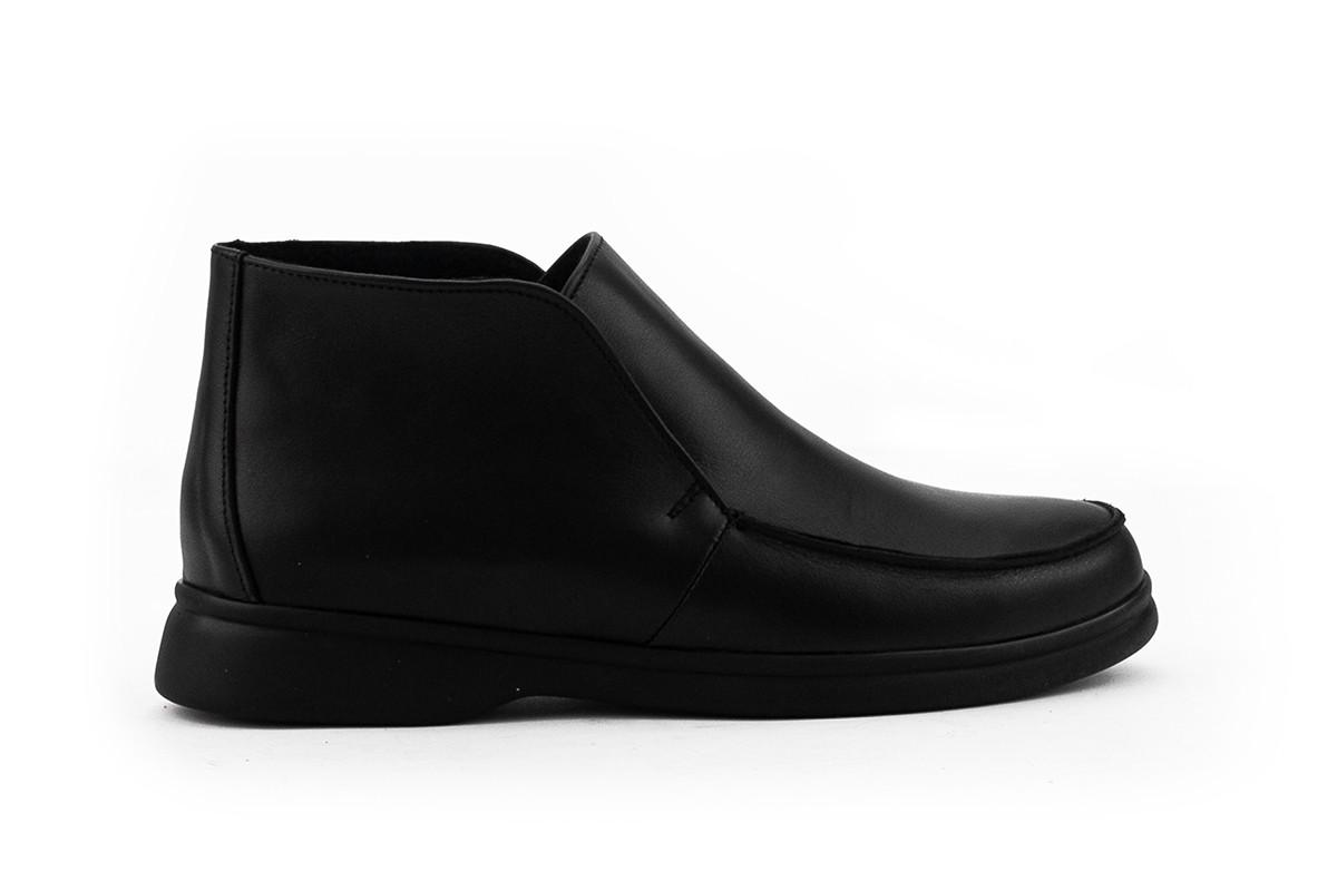 Жіночі черевики шкіряні весна/осінь чорні