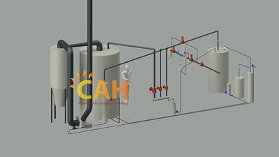 Мобильная паровая котельная для подогрева горячей воды на бетонные заводы.