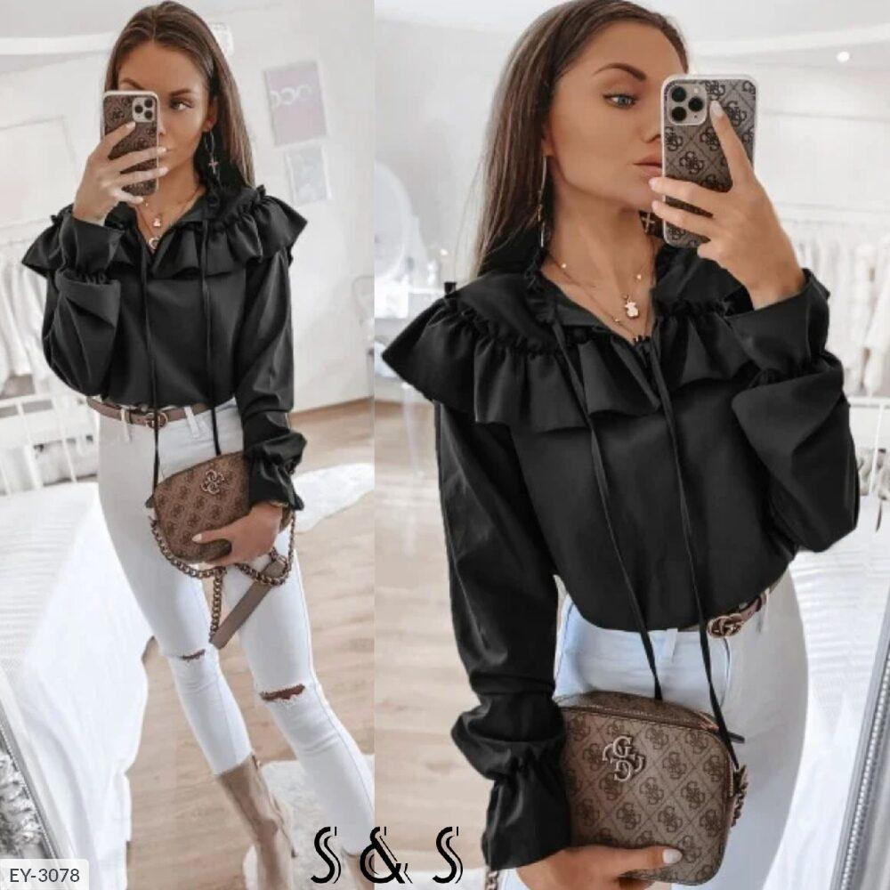 Женская блуза с воланами (Батал)