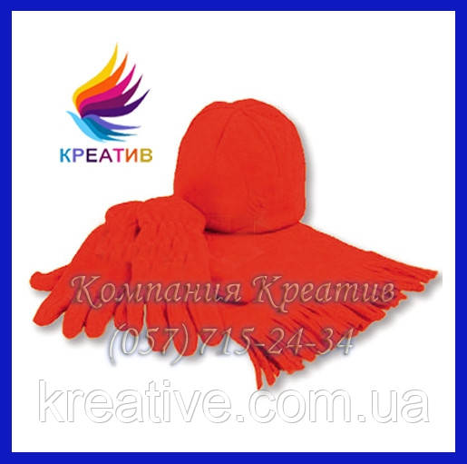 Флисовые шапки и шарфы с логотипом (от 50 шт.)