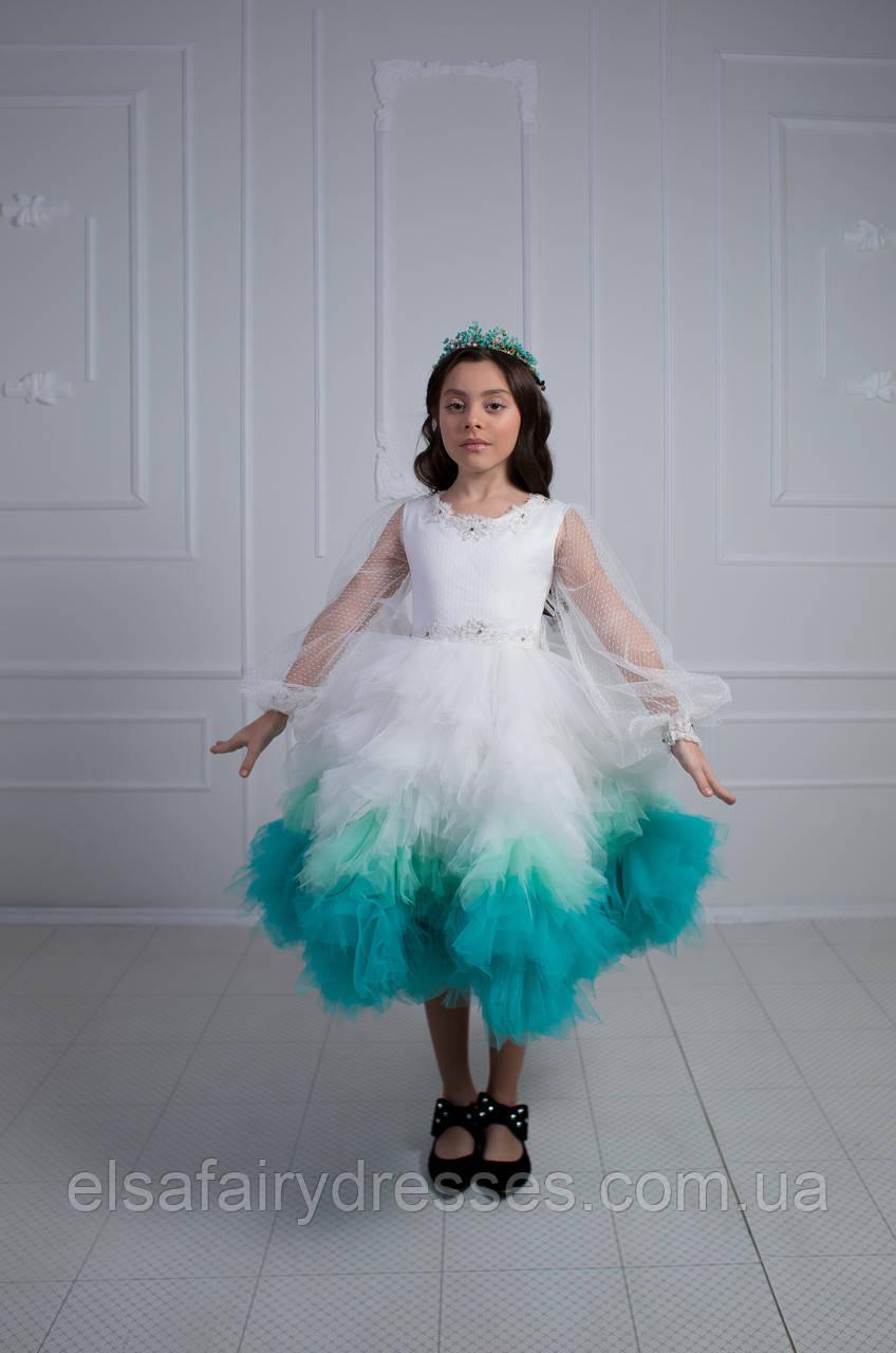 Дитяча святкова сукня 👑 SPRING WHITE 👑 - детское нарядное платье