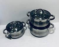 Набір каструль з 3 предметів Edenberg EB-3716