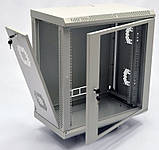 Шкаф 12U, 600х350х640 мм (Ш * Г * В), акриловое стекло, серый, фото 2