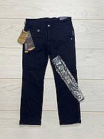 Утеплені катоновые штани на флісі. 6 років.
