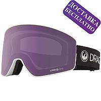 Популярна гірськолижна маска Dragon PXV2 Pearl зі змінними лінзами Lumalens Violet Ion і Lumalens Dark Smoke