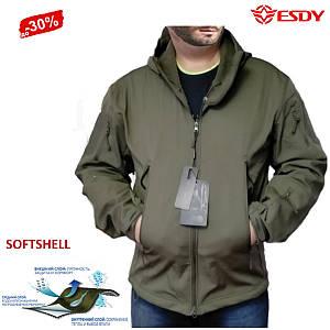 Тактическая Куртка Soft Shell ESDY Olive непромокаемая