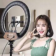 Профессиональная кольцевая LED лампа (56см.) ZB-F488, 86W. со штативом (210см.) и пультом